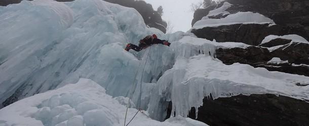 Eisverhältnisse Tauferer Reintal - 03.02.2018