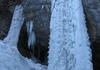 Die beiden Eisfaelle im unteren Stockwerk