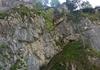 Abstiegsklettersteig im oberen Abschnitt