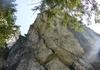 Blick in die steile Schlusswand