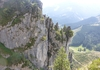 Blick vom Abstieg zum Ausstiegsbereich