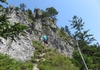 Noch ein Stück bergauf am Abstiegsklettersteig