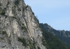 Pfeiler an dem der Klettersteige verläuft