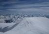 Großvenediger Grat vom Gipfelkreuz gesehen