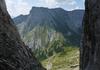 Blick aus der Abseilschlucht zum Fölzstein