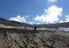 Übergang von Gletscher auf den Grat