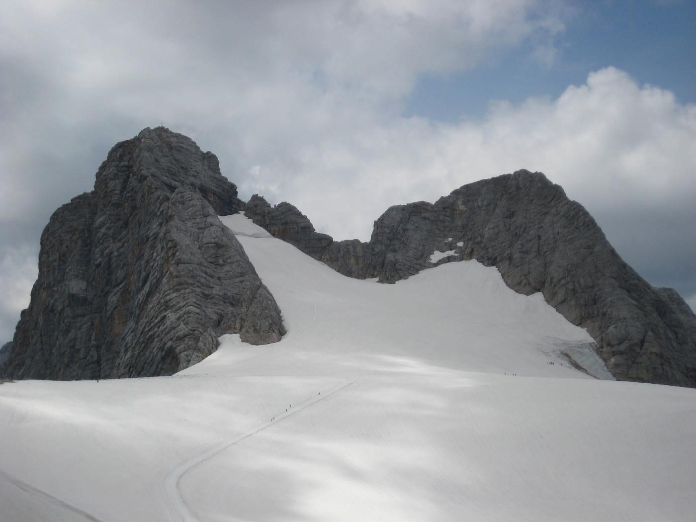 Klettersteig Johann Dachstein : Schulteranstieg hoher dachstein klettersteig gbl
