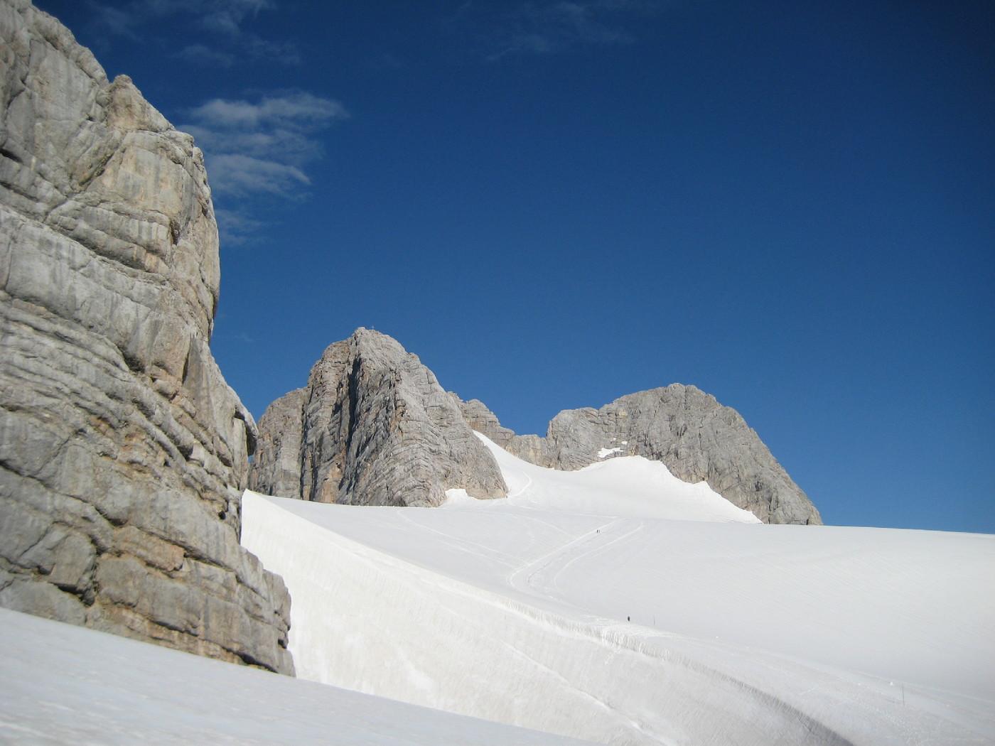 Klettersteig Johann Topo : Schulteranstieg hoher dachstein klettersteig gbl