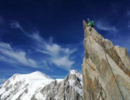 Teufelsgrat (Arete du Diable) - Mont Blanc du Tacul - Klettern