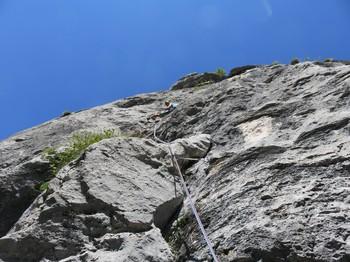 9. Seillänge steil und schön