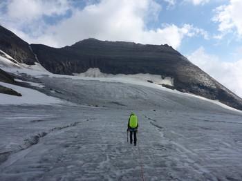Am flachen Gletscher Richtung Hohe Dock