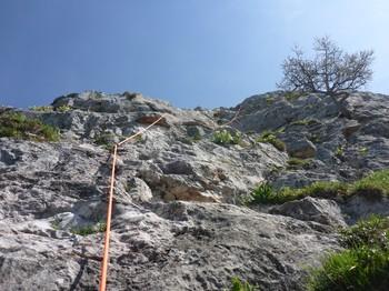 Breite Wand 2te Seillänge